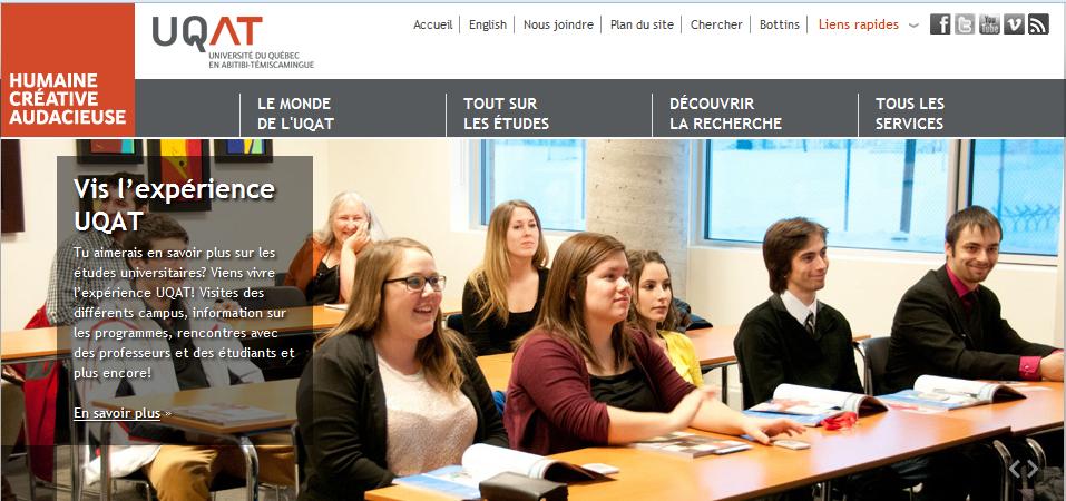 Etudier au Canada à L'Université du Québec UQAT